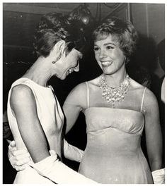 Audrey pictured with her friend Dame Julie Andrews: Luca never realised how famous Julie w...