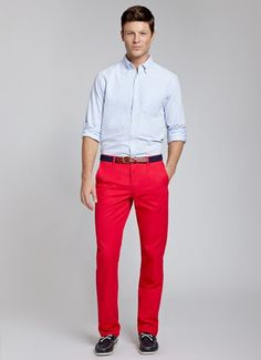 Barberry Pirates | Bonobos Light Red Straight Leg Washed Chinos