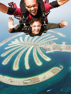 Sky Dive into 2016, Palm Jumeirah, United Arab Emirates with #Skydive #Dubai Jumping out of an airplane over this man-made wonder is going to spark some serious envy among your friends. Tandem skydives over the #Palm Drop Zone are very popular, which is why the Skydive Dubai team recommends that you make your skydiving reservation at least one to two months in advance.