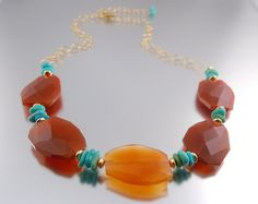 I'd tweek it....but I like the orange & turquoise combo. I have some fire agate & turquoise I need to create something with!