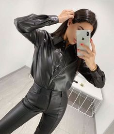 Leather Leggings, Leather Gloves, Leather Jacket, Black Leather Dresses, Black Faux Leather, Bustiers, Leder Outfits, Best Swimwear, Tailored Shirts