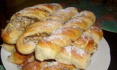 ené rolky s jableÄ? Czech Recipes, Nut Recipes, Sweet Recipes, Cooking Recipes, Albanian Recipes, Croatian Recipes, Hungarian Recipes, Sweet Pastries, Bread And Pastries