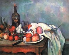 """Paul Cezanne """"Still Life with Red Onions"""", 1898 (France, Post-Impressionism, 19th cent.)"""