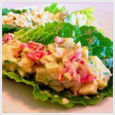 Avocado & Egg Salad Lettuce Boats