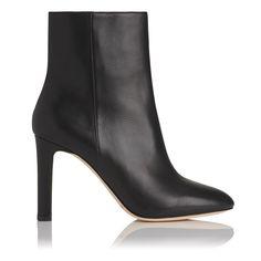 Edelle Black Leather Ankle Boots | Shoes | L.K.Bennett