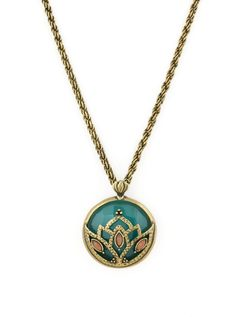 Jade Lotus Pendant | New Arrivals, Greens & Blues, Necklaces, Pendants, BOHO Chic | AMY O. Jewelry