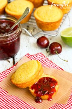 Sweet Cherry Freezer Jam with Lime