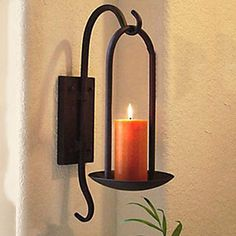 11H Retro Style Iron Votive Wall Candle Holder - USD $ 29.99