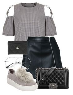 """Untitled #61"" by franciscanunes on Polyvore featuring Topshop, Guild Prime, Chanel and Steve Madden"