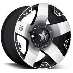 KMC Wheels XD Series 775 Rockstar in Machined Black for 07-16 Jeep Wrangler JK & JK Unlimited