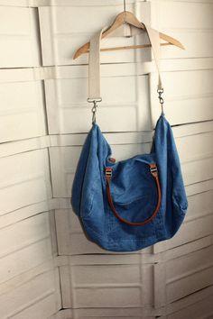 Large Denim Overnighter Bag