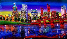 Portland City Lights #63a by PortlandFineArt on Etsy