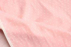 Japanese Fabric  double gauze dots  light pink by MissMatatabi