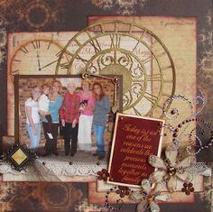 Make your own antique inspired scrapbook layout using this free project #tutorial from Quick Quote!