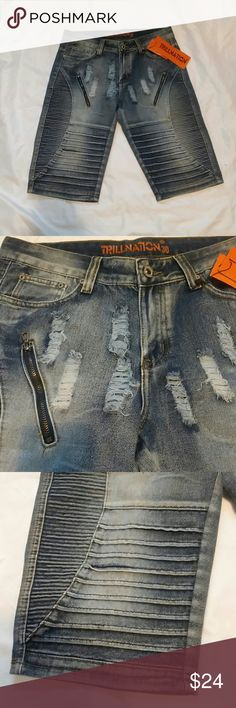 Trillnation mens denim short. New with tag.trillnation mens short.Size 30. trillnation Shorts Jean Shorts