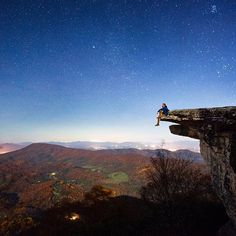 Late night rewards along the Appalachian Trail in Virginia. @travisburkephotography ~~ Follow the beauty in Instagram