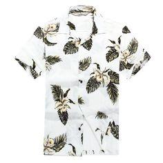 Men's Hawaiian Shirt Aloha Shirt - Palm Green Leaf - Clothing, Shirts, Casual Button-Down Shirts Button-Down Shirts Mens Hawaiian Shirts, Hawaii Shirts, Aloha Shirt, Casual Button Down Shirts, Shirt Style, Mens Fashion, Style Fashion, Fashion Shirts, Fashion Pants