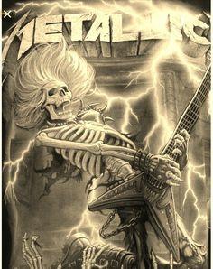 Metallica Band, Metal Music Bands, Rock Posters