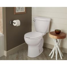 American Standard Cadet 2-piece 1.28 GPF Single Flush Round Toilet with 10 in. Rough-In in White