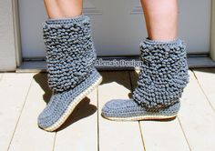 Crochet Boot Pattern  Crochet Pattern 140 for Cozy by AlenasDesign