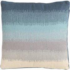 Glacier Bay Embroidered Ombre Pillow - Blue