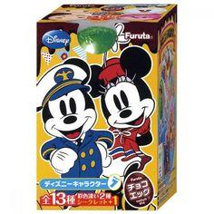 Disney characters 7 Tsum Tsum Chocolate Figure kinder Joy toy Furuta Mickey mini #FURUTA