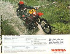 flic kr p afz7y1 1985 honda xr350r and xr600r brochure 1983 honda xr350r motorcycle brochure
