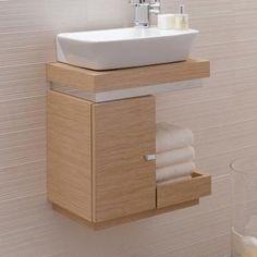 Keramag Silk washbasin cabinet oak real wood veneer – – by Bathroom Design Luxury, Modern Bathroom Decor, Bathroom Design Small, Home Decor Furniture, Bathroom Furniture, Home Decor Bedroom, Home Room Design, Interior Design Kitchen, Small Toilet Room
