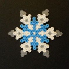 Snowflake hama beads by perlartshop
