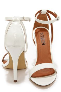 012d24a3f7b Lola 1 White Patent Ankle Strap Heels