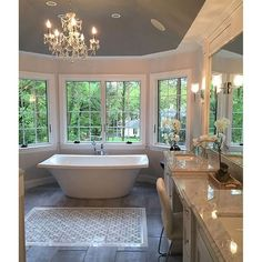 The Benefits of Classic Mediterranean Bathroom Lots of people want to have a beachfront home. If you've been at your existing home for quite a while, . Bathroom Layout, Bathroom Interior, Modern Bathroom, Master Bathroom, Bathroom Designs, Master Baths, Bathroom Goals, Dream Bathrooms, Dream Rooms