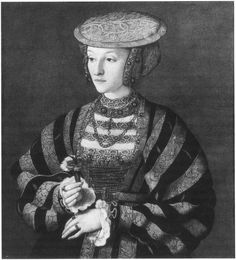 'Lost' portrait of Anne of Cleves?    Portrait of Anne of Cleves, fourth queen consort of Henry VIII, attributed to the circle of Barthel Bruyn. Oil on vellum
