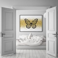 Home interior wall decor butterfly artwork
