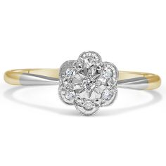 The Georgeanna Ring from Brilliant Earth...This is so cute and dainty, and I love the two tone
