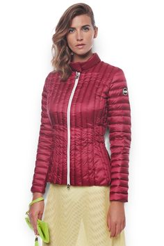 WOMEN'S DOWN JACKET WITH PADDED COLLAR