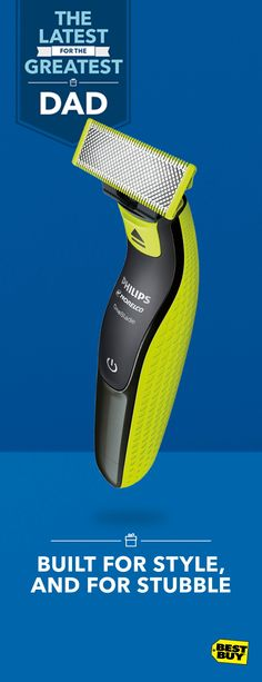 The Philips Norelco OneBlade is no ordinary beard trimmer. Create and shape moustaches, muttonchops, soul patches and beards of any length with this cordless hybrid. Trimming, edging, shaving — OneBlade does it all. And, it only needs replacement blades about every four months. Find versatile Father's Day gifts like this and more at Best Buy.