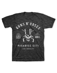 Guns N Roses Skeleton L.A. Label Mens T-Shirt - Guaranteed Authentic.  Fast Shipping.