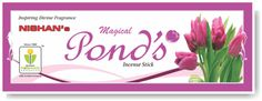 NISHAN PRODUCTS based in Ahmedabad, Gujarat (India) is a manufacturer, supplier and exporter of Pond's Incense Sticks at the best price.