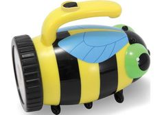 Bibi Bee Kids' Flashlight : Bibis bold yellow and black stripes and bright light will help your child bee brave after dark! This durable flashlight, with its sturdy, integrated handle, will shine a light on many fantastic childhood activities! Shine The Light, Shops, Exploration, Melissa & Doug, Bee Design, Outdoor Toys, Outdoor Stuff, Outdoor Fun, Toy Collector