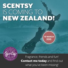 Scentsy New Zealand is a great opportunity, along with Scentsy Australia. New Zealand is in its first year of launch; join Scentsy New Zealand and be among the first.