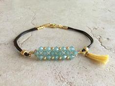 c6cec1c334c5 Crystal beaded bracelet Bohemian tassel bracelet Beaded Pulseras De  Abalorios