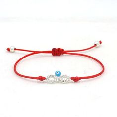 Cute Evil Eye Handmade Bracelet-Bracelets-Cute Bear-Red and Silver Cute Bear Brand Pave Crystal Digital 8 evil eye Bracelet Lucky Red And Black Rope String Adjustable Handmade Bracelets For Women. Charm Bracelets For Girls, Cheap Bracelets, Cute Bracelets, Handmade Bracelets, Fashion Bracelets, Birthday Gifts For Best Friend, Best Friend Gifts, Charm Jewelry, Jewelry Gifts