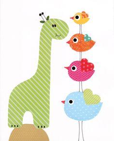 Colorful Animal Nursery Artwork Print // Baby Room Decoration // Kids Room Decoration // Gifts Under 20 // Little Boys Room wall art