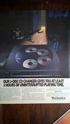 1989 Technics SL-PC20 5-disc CD carousel player - Rolling Stone, November 16, 1989