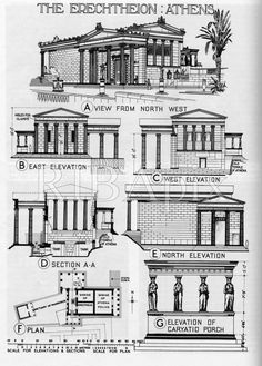 Ancient Greek architecture Plans of ancient Greek temples