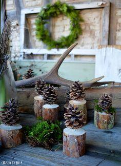 Weihnachtsdekoration mit Tannenzapfen, Weihnachtsdeko mit Zapfen, Wichtelgeschenk, natürliche Weihnachtsdekoration, DIY aus Zapfen