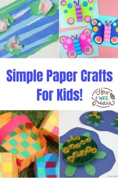 Keep your crafts nice and easy with these fun paper crafts for kids to make! All you need is some construction paper for these easy arts and crafts. Beautiful and colorful crafts all made from paper! Easy Arts And Crafts, Paper Crafts For Kids, Crafts For Kids To Make, Arts And Crafts Projects, How To Make, Colorful Crafts, Construction Paper Crafts, Crafts Beautiful, Kids Learning Activities