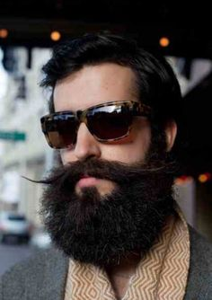 Awesome stache and beard!