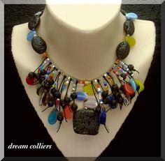 wildes Afrika - antike Perlen von Dream-Colliers auf DaWanda.com
