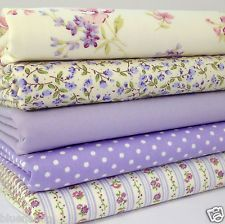 Bundle 5 fat quarters lilac & ivory florals cotton fabric/material BUY HERE. Shabby Chic Quilts, Shabby Chic Fabric, Fat Quarters, Quilt Material, Fabulous Fabrics, Fabric Wallpaper, Fabric Patterns, Fabric Crafts, Fabric Design